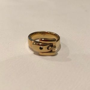 Michael Kors buckle ring in gold